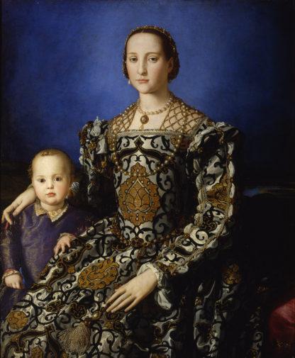 Agnolo Bronzino Portrait of Eleonor of Toledo and her son Giovanni