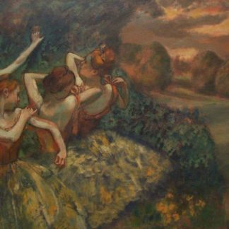 Edgar Degas Four Dancers Adjusting their Clothes behind the scenes