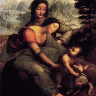 Leonardo Da Vinci The Virgin and the Child with St Anne and the lamb