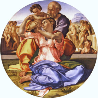 Michelangelo Sacred Family with the little Saint John (The Doni Tondo)