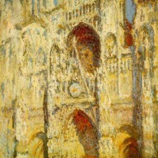 Claude Monet Rouen Cathedral in full sunlight