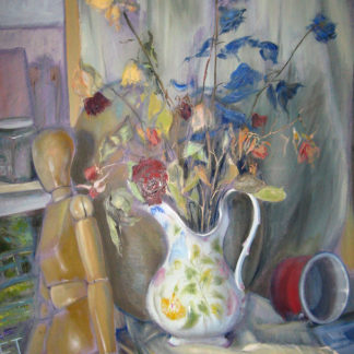 Flowers Vase in Studio