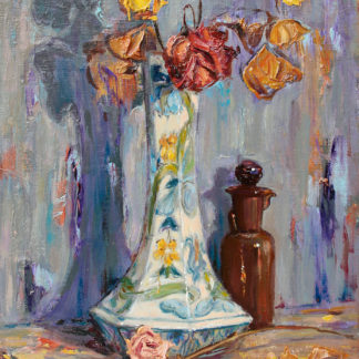 Decorated Vase and Flowers