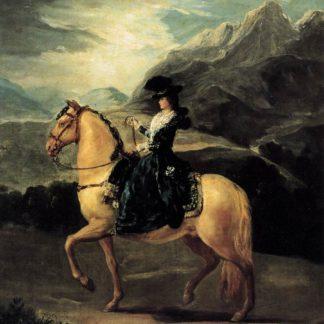 Francisco Goya Maria Teresa de Vallabriga riding a Horse