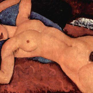 Amedeo Modigliani Red Nude (Nude on a cushion)